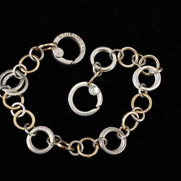 Tiffany & Co. Sterling Silver & Yellow Gold Link Bracelet