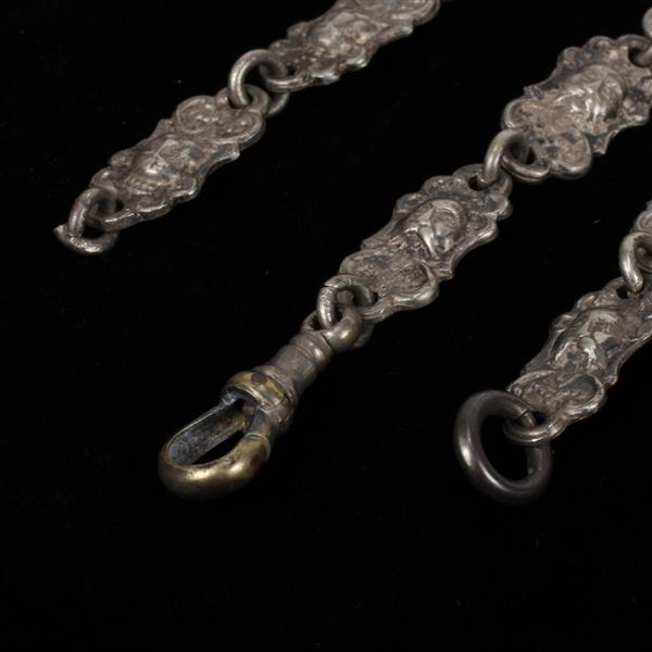 Antique edwardian electro plated nickel silver chatelaine wi for Silver jewelry repair indianapolis