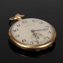 J. Wartell New York 14K yellow gold open face pocket watch.