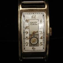 Gruen Curvex Precision 14K yellow gold watch head
