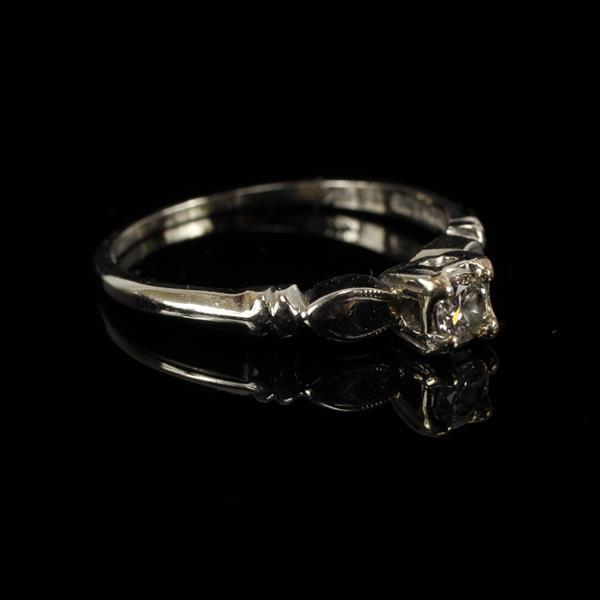 White Gold 14K Diamond Engagement Ring size 8