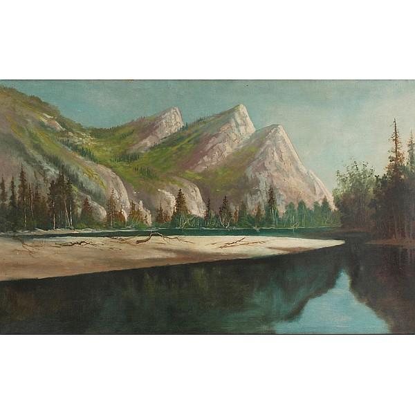 Alexander M. Wood, (British/American; 1849 - 1925), California Landscape, Oil on canvas, 30
