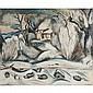 Achille Emile Othon Friesz, (1879 - 1949), Winter scene, Oil on canvas., 23 1/2