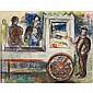 Frank Perri, (Italian/American, 1918-1999), Circus Cart, Pastel on paper, 11