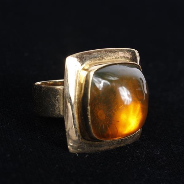 Amber 14K Gold Modern Estate Ring, Size 10, Everett jewelers. Size 10