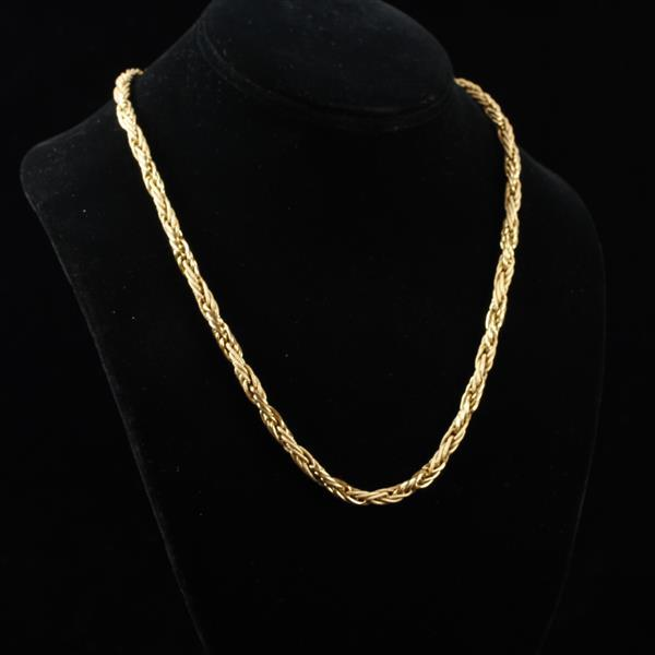 Italy 14K Yellow Gold Multi Link Chunky Fancy Chain; 11.25 dwt. 20