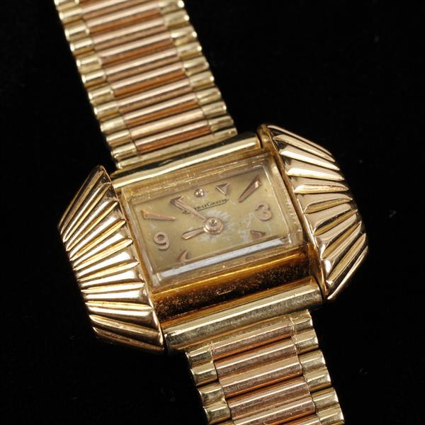 Jaeger Lecoultre Retro Rose Gold and 14K Yellow Gold 1950s Ladies Vintage Estate Wrist Watch 7