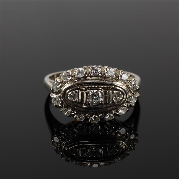 White Gold 14K Art Deco Diamond Ring