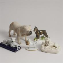 Lot of 5 dog figurines.