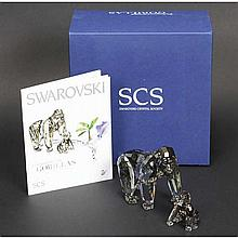 Swarovski Crystal Society (SCS) Gorillas: 2009 Endangered Wildlife Series.