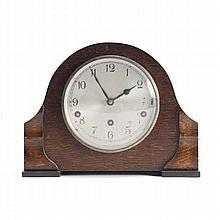 Garrard Edwardian oak case mantel clock; Made in England.