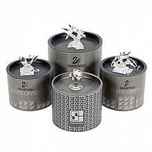 Four Swarovski Silver Crystal figurines with original boxes.