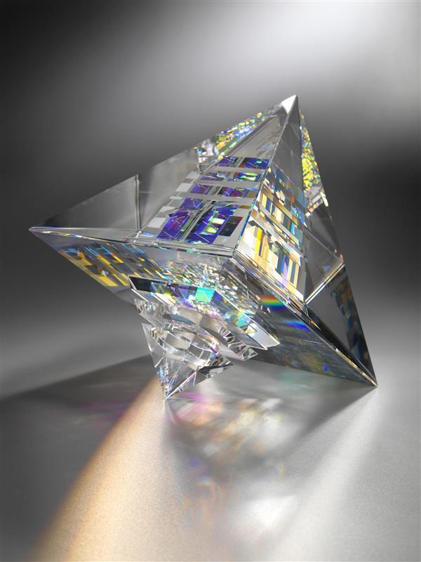 Dichroic Glass Pyramid