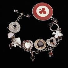 Sterling Casino Charm Bracelet