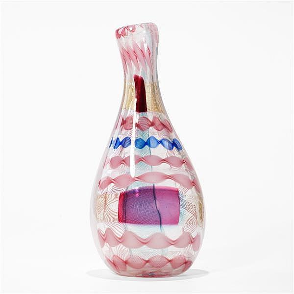 Dino Martens Rosalinda vase, model 3173 Aureliano Toso Italy, 1952