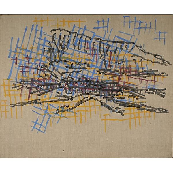 Judy Rifka, American; (b. 1945)., Valley of the Kings., Acrylic on linen., 40