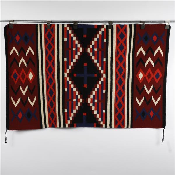Native American Indian chief's robe weaving, 1950s