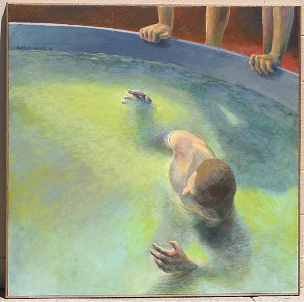 Doris Vlasek-Hails (American, 1938-2004) Contemporary Modern acrylic on canvas