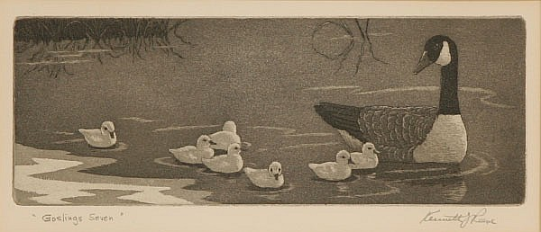 Kenneth Reeve, (Indiana 1910-), Two etchings;