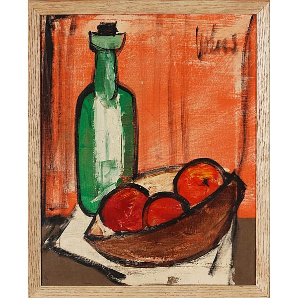 Modern expressionist still life oil on canvas.