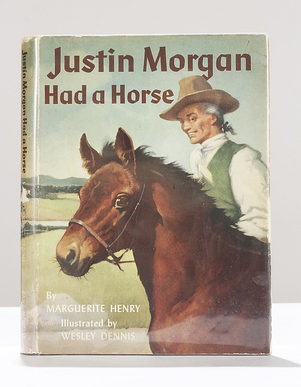 Justin Morgan Had a Horse double signed book by Marguerite Henry.