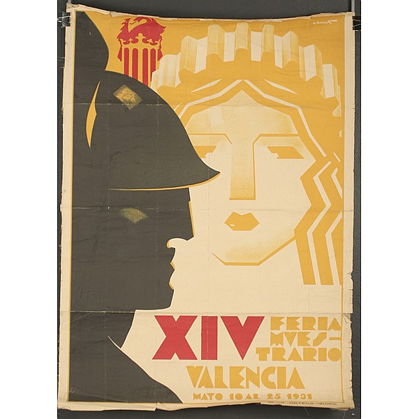 Spanish Art Deco Valencia XIV exhibition poster, 1931;