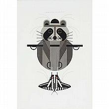 Charley Harper, American (1922-2007), Raccrobat (1978), Screenprint on paper