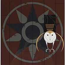 Charley Harper, American (1922-2007), Hexxit, Screenprint on paper, 23