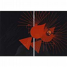 Charley Harper, American (1922-2007), Seeing Red (1977), Screenprint on paper, 21 1/4