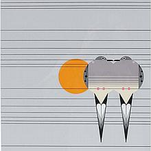 Charley Harper, American (1922-2007), Lovey Dovey (1978), Screenprint on paper, 21 1/4