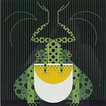 Charley Harper, American (1922-2007), Frog Eat Frog (1978), Screenprint on paper, 22