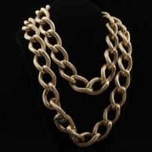 GIANT Coro gold-tone chain vintage designer necklace.