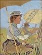 Otto Stark Oil Paper Plein-Air Artists, Otto Stark, Click for value