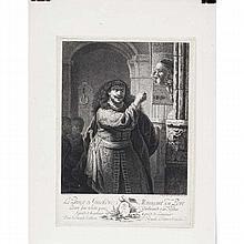 Daniel Berger (1744-1824); after Rembrandt Van Rijn; Le Prince de Gueldre Menacant son Pere; engraving