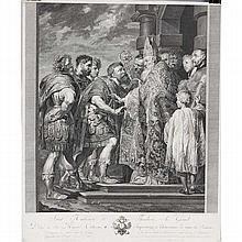 Jakob Schmutzer, after Peter Paul Rubens, large engraving on laid paper.