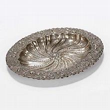 Continental 800 silver repousse and hand chased bowl.