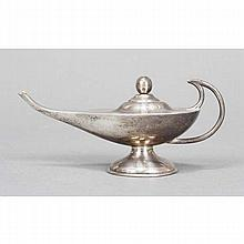 Sterling silver oil lamp cigar lighter.