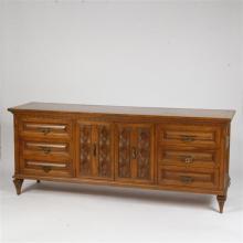 Romweber Viking Oak Double Dresser; Bedroom Suite Furniture.