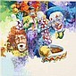 Waylande Moore Clown Print Signed lk Neiman, Wayland Moore, Click for value