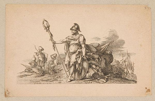 Johann Wilhelm Meil (German, 1733-1805) Military, religious, and domestic scenes 11 engravings