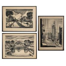 Martin Linsey, (American; 1915-2010), collection of three, lithographs