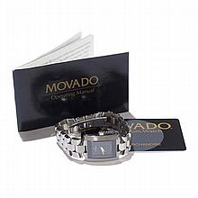 Movado Eliro Museum watch; stainless steel band.