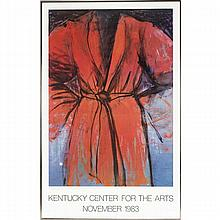 Jim Dine signed exhibition poster; Kentucky Center for the Arts, November 1983.