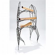 Jared Cru Smith, (American), Hybridge (shelf), Hickory, rebar, 48