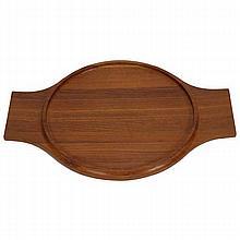 Dansk International Quistgaard large modern teak wood tray.
