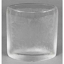 C.J. Riedel modern blown glass iceberg textured vase, Austria.