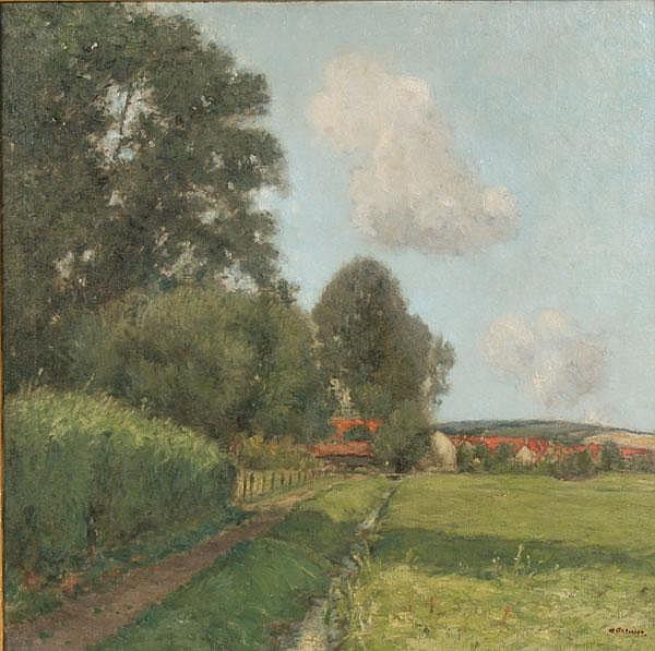 William Clusmann Lush Summer Landscape O/C IN/IL