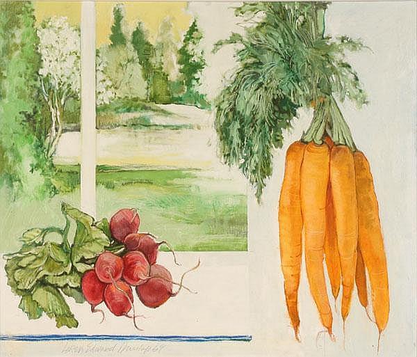 Loren Dunlap Still Life w/Vegetables Oil/Canvas