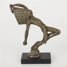 Pre-1920 French Brass automotive hood ornament of a dancing Native American Indian marked