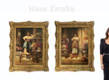 Art Print of Vintage Art 10 x 22 Spring Fantasy by Hans Zatzka